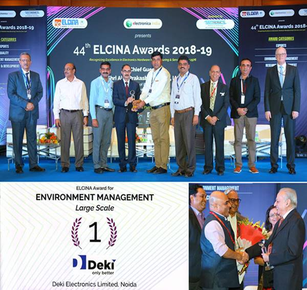 ELCINA Award 2018-19 for Environment Management