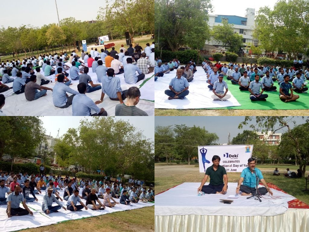 International Yoga Day Celebration at Deki