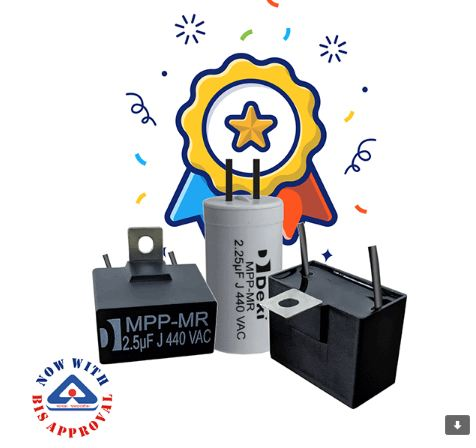 BIS APPROVED FAN MOTOR CAPACITORS