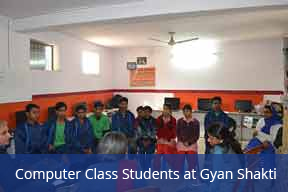 Computer Class Students at Gyan Shakti